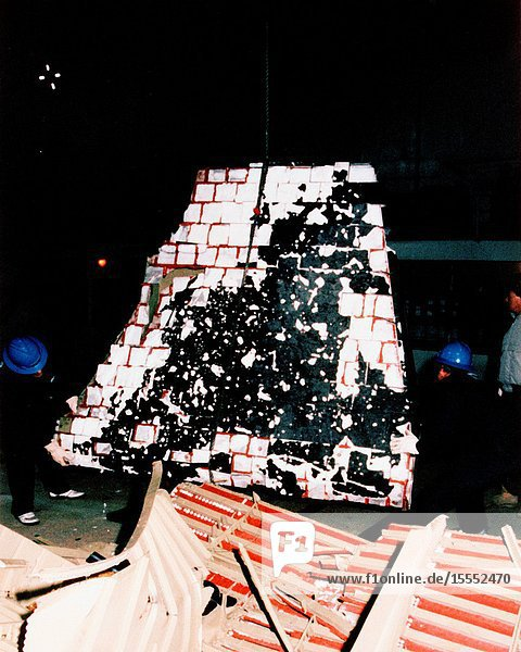 Wreckage from the space shuttle Challenger  STS-51L mission  retrieved from the Atlantic Ocean by a flotilla of United States Coast Guard (USCG) and United States Navy (USN) vessels was returned to the Trident Basin at Cape Canaveral Air Force Station aboard the USCG Cutter Dallas tonight.