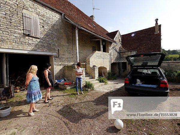 France  Burgundy  Yonne deparement (89)  village of Sacy  part of the farm where writer Nicolas Restif de la Bretonne was born and lived
