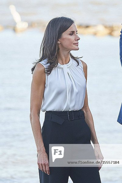 Queen Letizia of Spain visit Los Alcazares (Murcia) after the September floods on October 4  2019  Spain