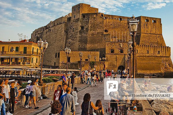 Castel dell'Ovo  Egg Castle  Naples city  Campania  Italy  Europe.
