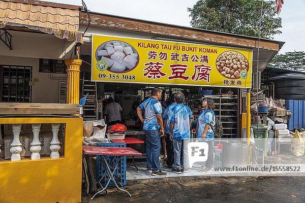 Tofu factory in Bukit Koman  Raub  Pahang  Malaysia