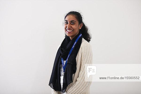 Portrait confident young Indian woman