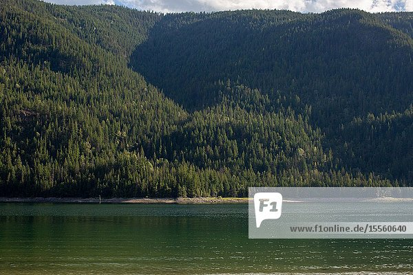 The Columbia River in Castlegar  Canada  is a multiple use resource for use in commerce and recreation.