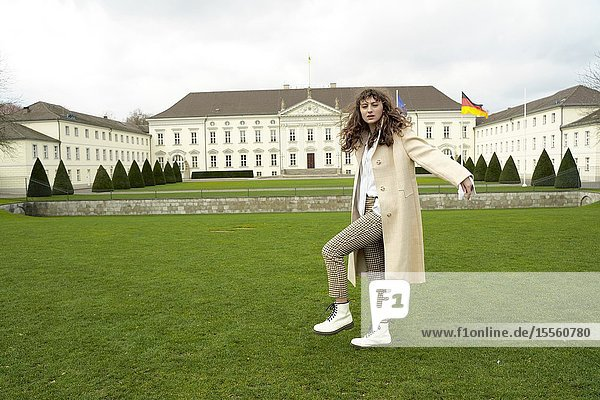 Young woman  in Berlin  Germany.