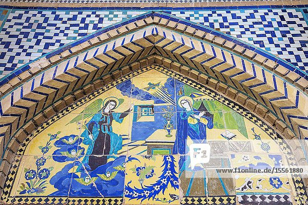 Armenian Holy Savior Cathedral  Surb Amenaprkich Vank  1664  Annunciation  New Julfa  Armenian quarter  Isfahan  Isfahan Province  Iran.