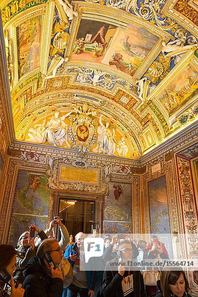 Gallery of Maps at Vatican Museums  Rome  Lazio  Italy.