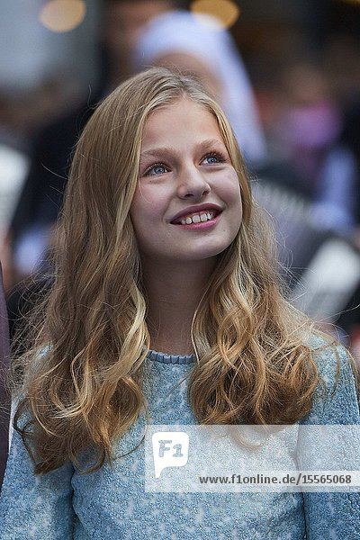 Crown Princess Leonor arrived to Campoamor Theater for the Princesa de Asturias Award 2019 ceremony on October 18  2019 in Oviedo  Spain