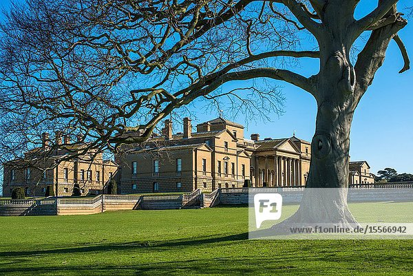 Holkham hall Stately home in North Norfolk  East Anglia  England  UK.