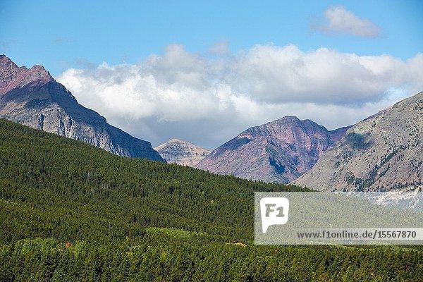 Continental Divide from East Glacier National Park  Two Medicine.