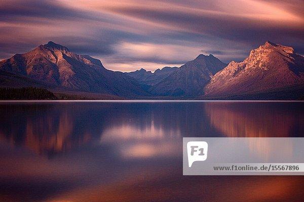 McDonald Lake in Glacier National Park in Montana.