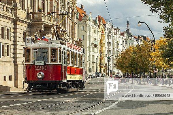 Tram-museum in Prague  Czechia.