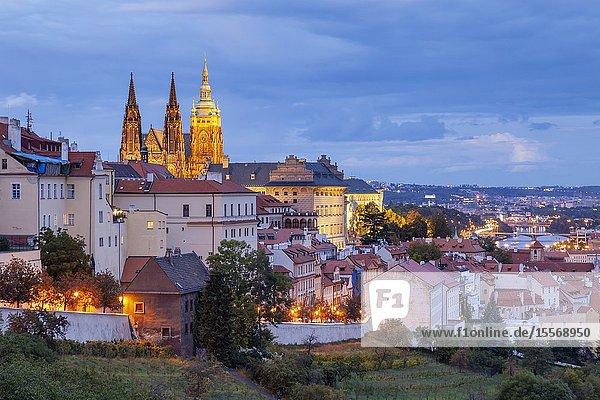 Evening at Hradcany in Prague  Czechia.