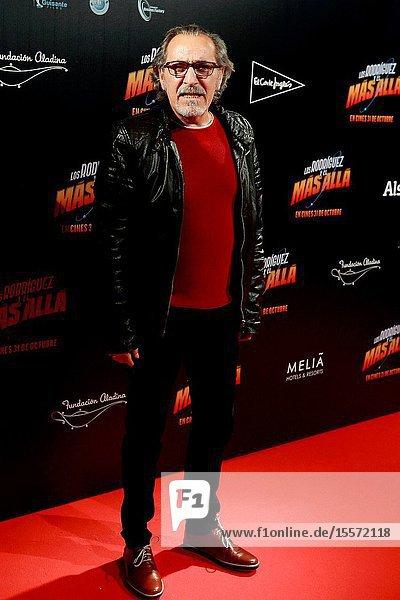 """The actor Enrique Villén Attends the photocall of the movie """"Los Rodríguez y el más allá ..October 23  2019 Callao cinema  Madrid."""