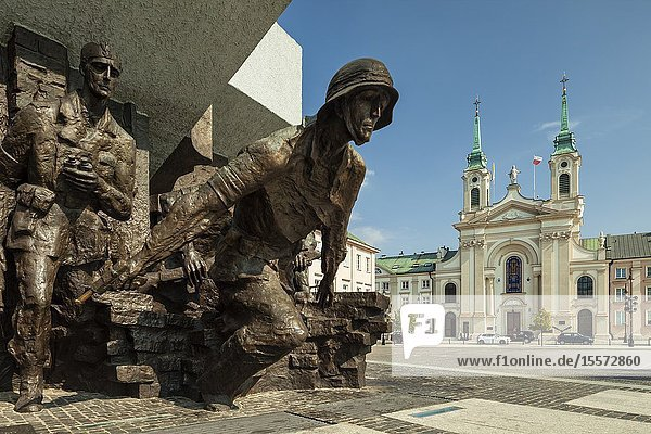 Warsaw Uprising monument in Warsaw  Poland.