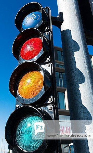 Traffic lights. Reykjavík Iceland.