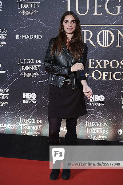 Elena Furiase attends the opening of 'Game Of Thrones. The Official Exhibition' at Espacio 5.1 IFEMA on October 24  2019 in Madrid  Spain