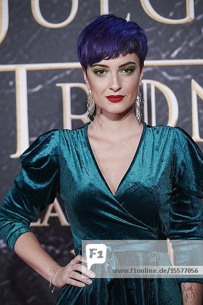 Aroa Moreno attends the opening of 'Game Of Thrones. The Official Exhibition' at Espacio 5.1 IFEMA on October 24  2019 in Madrid  Spain