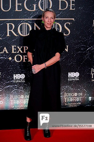 Costume designer Michelle Clapton attend the photocall exhibition Game of Thrones..October 24  2019 Madrid