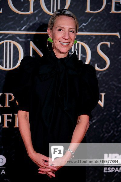 The stylist Michelle Clapton attend the photocall exhibition Game of Thrones..October 24  2019 Madrid