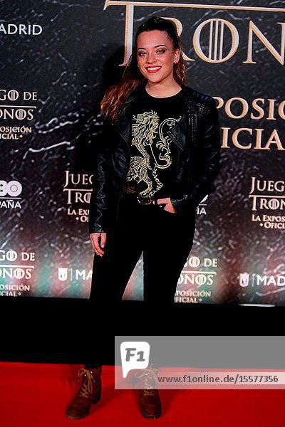 Singer Noelia Franco attend the photocall exhibition Game of Thrones..October 24  2019 Madrid.