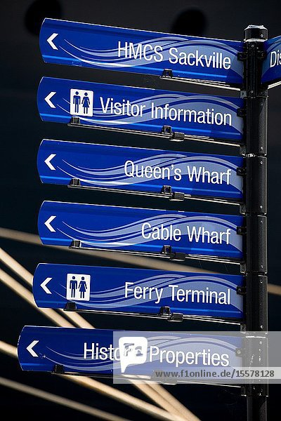 Canada  halifax. seafront directions.