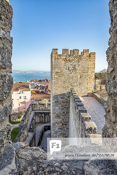 City view from S. Jorge castle in Lisbon  Portugal.