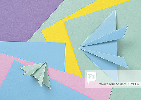 Farbiges Papier-Origami