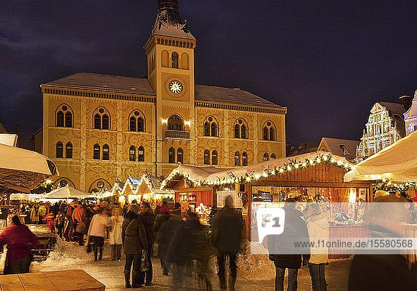 Germany  Bavaria  Christmas Market at Pfaffenhofen