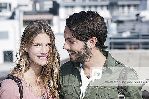 Germany  Cologne  Young couple smiling
