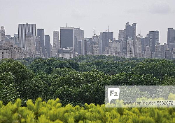 USA  New York  Blick auf die Skyline der Stadt