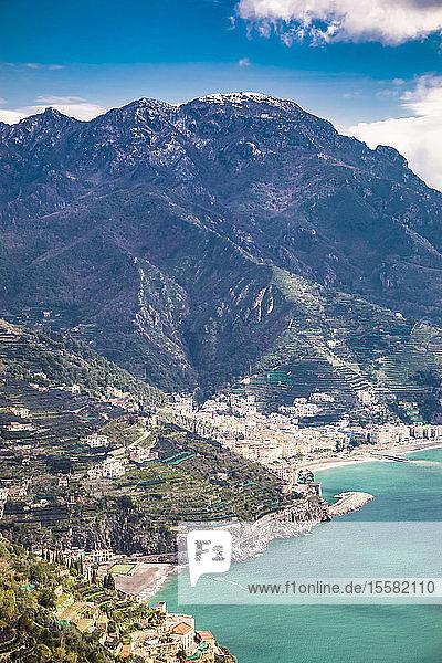 Italy  Campania  Amalfi Coast  Ravello  view of the Amalfi Coast and Mediterranean sea