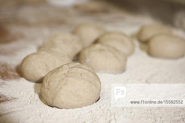 Germany  Bavaria  Munich  Bread dough with flour  close up