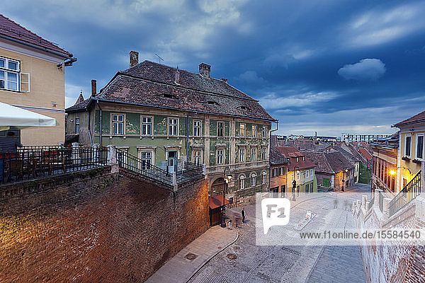 Street in old town of Sibiu  Romania