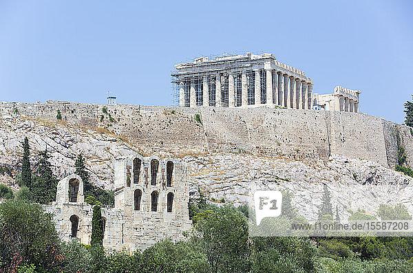 Parthenon  Acropolis  UNESCO World Heritage Site  Athens  Greece