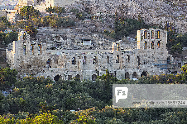 Herodes Atticus Theatre  Acropolis  UNESCO World Heritage Site  Athens  Greece