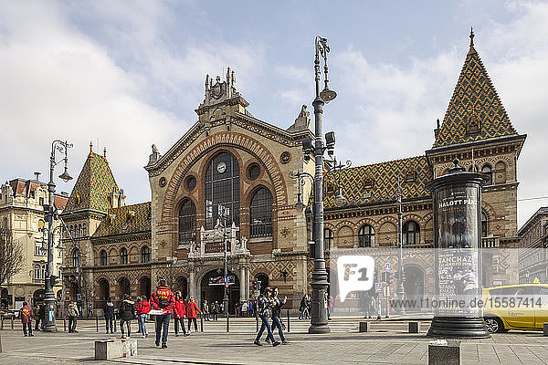 The Great Market Hall in Budapest  Hungary