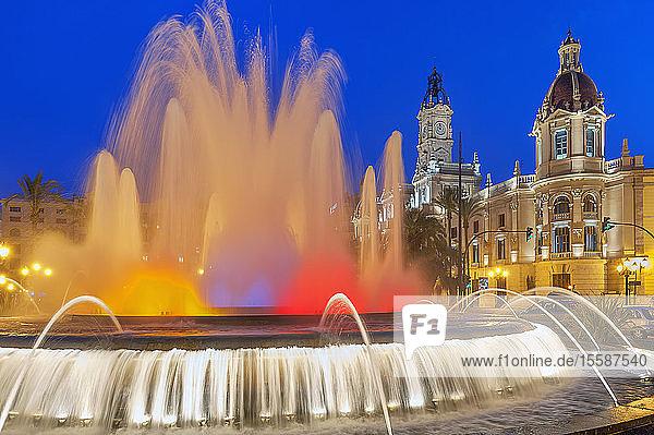 Magic Fountain  Valencia  Comunidad Autonoma de Valencia  Spain