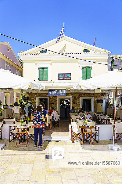 The pretty town of Gaios  the main port and harbour on the island  Paxos  Ionian Islands  Greek Islands  Greece