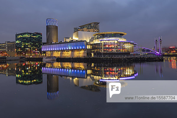 The Lowry Theatre at MediaCity UK  Salford Quays  Manchester  England  United Kingdom