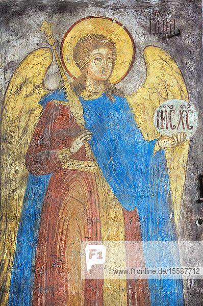 Frescoes  Church of St. John the Baptist  UNESCO World Heritage Site  Yaroslavl  Yaroslavl Oblast  Russia