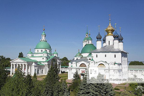 Spaso-Yakovlevsky Monastery dating from the 14th century  near Rostov Veliky  Golden Ring  Yaroslavl Oblast  Russia