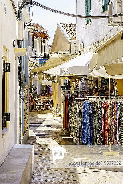 Narrow street in Gaios  Paxos  Ionian Islands  Greek Islands  Greece