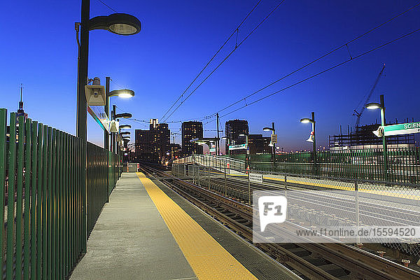 Subway station with museum in the background  Leverett Circle  Museum Of Science  Boston  Massachusetts  USA