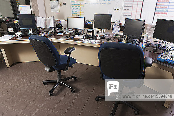 Computer work stations at public works control center