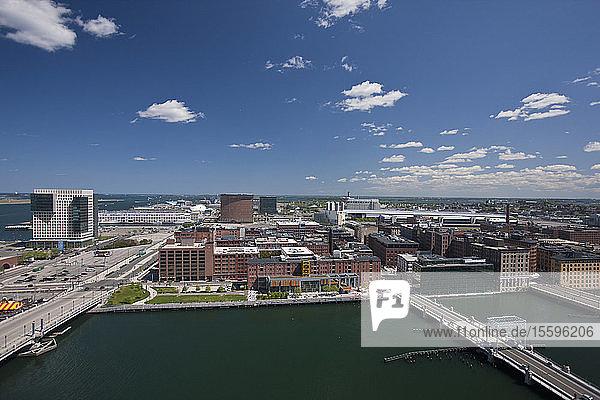 High angle view of a city  Boston  Massachusetts  USA