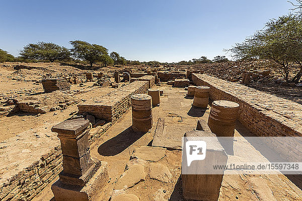 Remains of the baths in the Royal City of the monarchs who ruled the Kingdom of Kush; Meroe  Northern State  Sudan