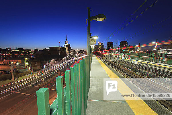 Subway tracks and highways leading to a museum  Leverett Circle  Museum Of Science  Boston  Massachusetts  USA