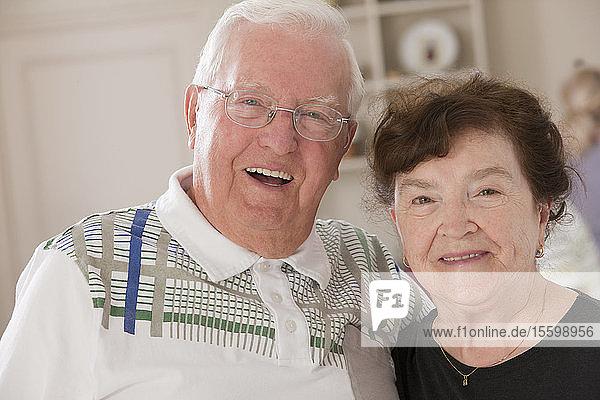 Portrait of a senior couple smiling