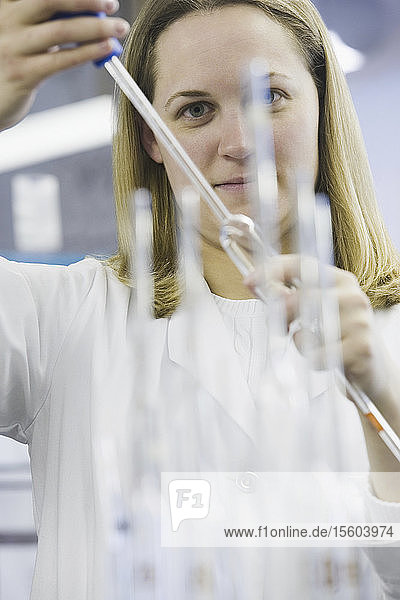 Portrait of a female scientist working in a laboratory