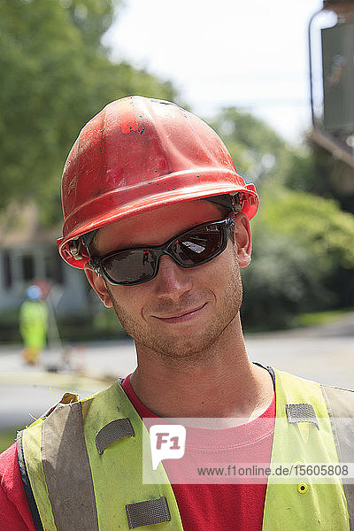 Portrait of construction worker on project site